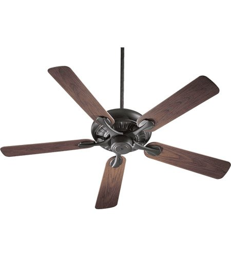 Quorum International 191525-95 Pinnacle Energy Star Patio Ceiling Fan with Walnut ABS Blades, 52-Inch, Old World Finish by Quorum International