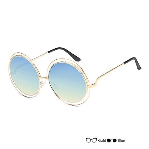 De Gafas De Gafas Sol Del Negro Lujo Señor L De Redondas Gafas TIANLIANG04 Vintage Oval L Mujer Sol 5XIUwdxB