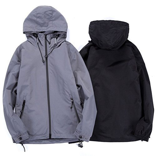 Long L buena Windbreaker Windproof Running Hoodie calidad Men's Size Soft Outwear Coat Zhhlaixing Sleeve 5XL negro Jacket RXwq6dq