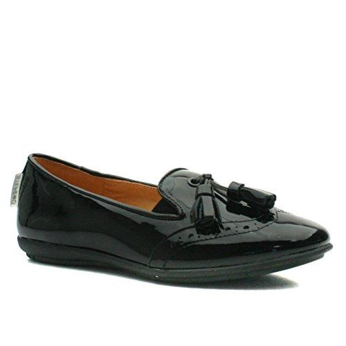 CINDY Step2wo School Shoe Slipon/Tassle for Girls >                 > Schulschuh für Mädchen Schwarz (glänzend)