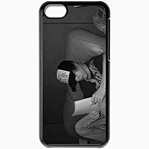 Lmf DIY phone casePersonalized iphone 5c Cell phone Case/Cover Skin Justin Bieber Hat Reading Room Phone BlackLmf DIY phone case