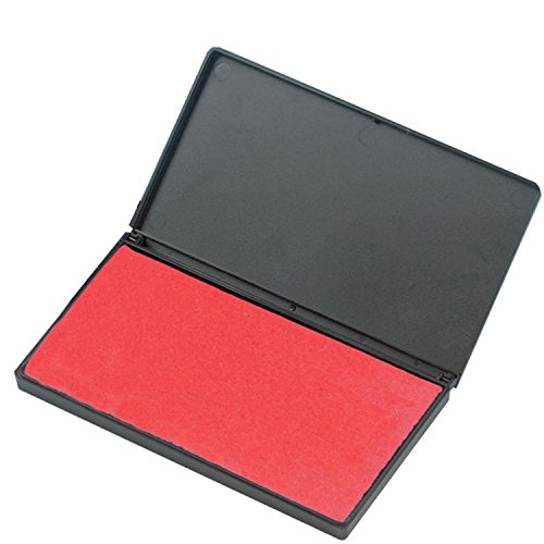 Charles Leonard Foam Stamp Pad, Small , Red, 1 each
