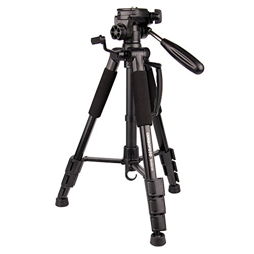 "Portable tripod-CAMBOFOTO 55"" Camera Tripod with tripod bag and 3 way pan head for SLR/DSLR Canon Nikon Sony Olympus etc by CAMBOFOTO"