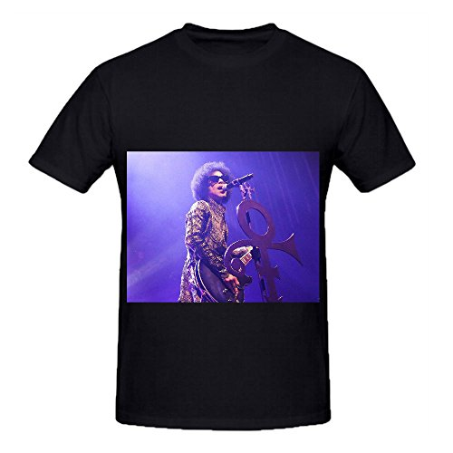 Prince Funk Tour Mens Crew Neck Casual Shirts Black