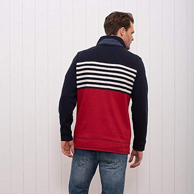 Brakeburn Troyer męski sweter z miękkiego dżerseju, bez wzoru, rozm. M, rozm. L, rozm. XL, rozm. XXL: Odzież