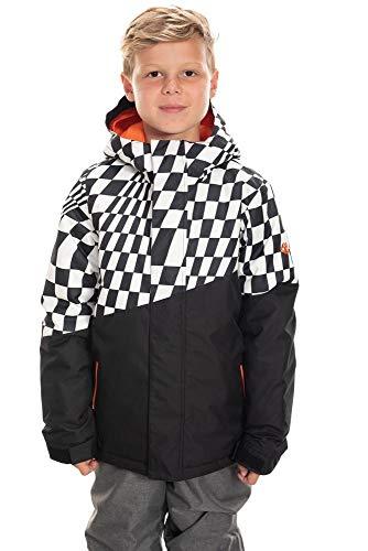 686 Boy's Cross Insulated Jacket - Waterproof Ski/Snowboard Winter Coat, Checkers Colorblock, Large (686 Boys Snowboard Jacket)
