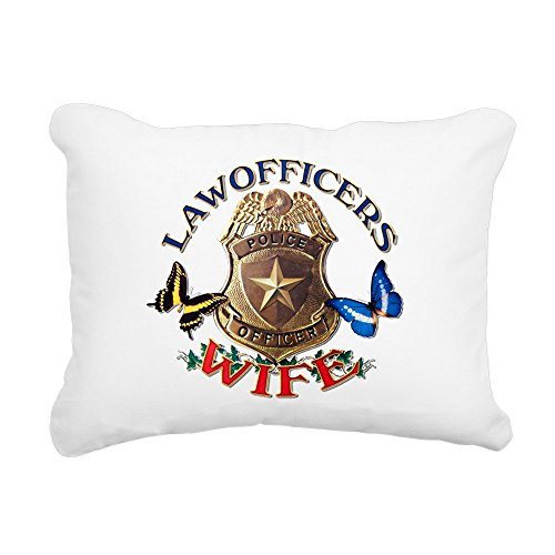 (Rectangular Canvas Throw Pillow Natural Law Officers Police Officers Wife )