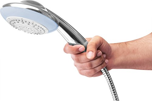 Handheld LED Shower with 5 functions - Rain, Massage, Shower - 3 Color Changing Water Temperature Sensor - By Utopia Home Water Massage