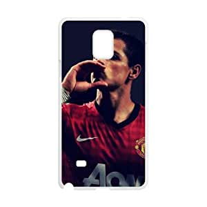Mexico Football Player Javier Hernandez Hard Protective Plastic Back Black and White Case Cover for Samsung Galaxy Note 4(1)