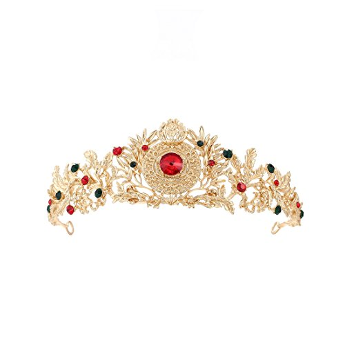 Eseres Gold Royal Queen Crown Costume Party Tiara