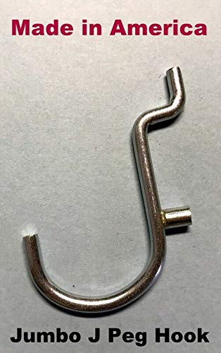 (500 PACK) 1'' Jumbo 'J' Metal Peg Garage Hanger Hooks. 1/8 to 1/4 Inch Pegboard by STRIKE (Image #3)