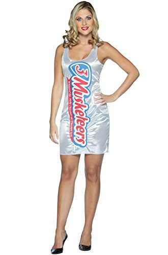 3 Musketeers Candy Tank Dress Up Outfit Adult Costume -