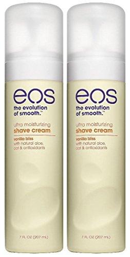 EOS Ultra Moisturizing Shave Cream, Vanilla Bliss - 7 oz - 2 pk (Cream Moisturizing Ultra)