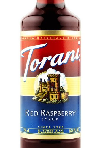 Torani Red Raspberry Syrup 3 bottles of 750 ml ()