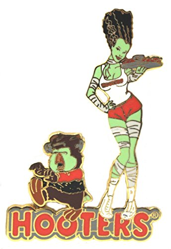 Hooters Restaurant Halloween Monster Mash Girl Serving Wing Hootie Lapel Pin Zombie ()