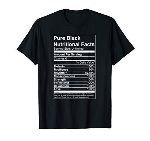 Pure Black Nutritional Fact Tshirt
