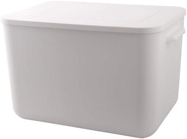 計量カップ付き米箱 米粉米の穀物を貯蔵するのに適した容器を気密設計の食品保存容器 米収納ボックス (色 : 白, サイズ : 40x27x25cm)