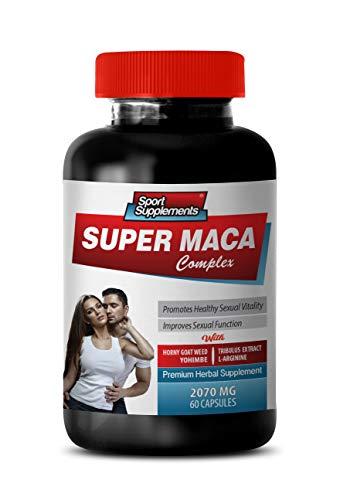 Men Sexual Supplement Enhancement - Super MACA Complex - Premium Herbal Supplements - maca Root Capsules - 1 Bottle 60 Capsules by Sport Supplements