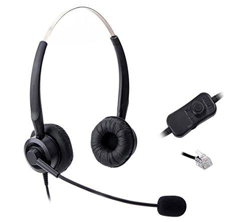 comdio-corded-headset-headphones-ear-phone-volume-mute-control-for-nortel-networks-nt-nothern-teleco