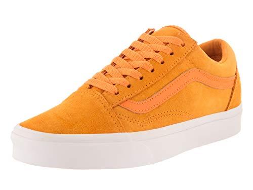 Wht Shoe Skateboard - Vans Unisex Old Skool (Soft Suede) Soft Suede/Zinnia/True Wht Skate Shoe 5.5 Men US / 7 Women US