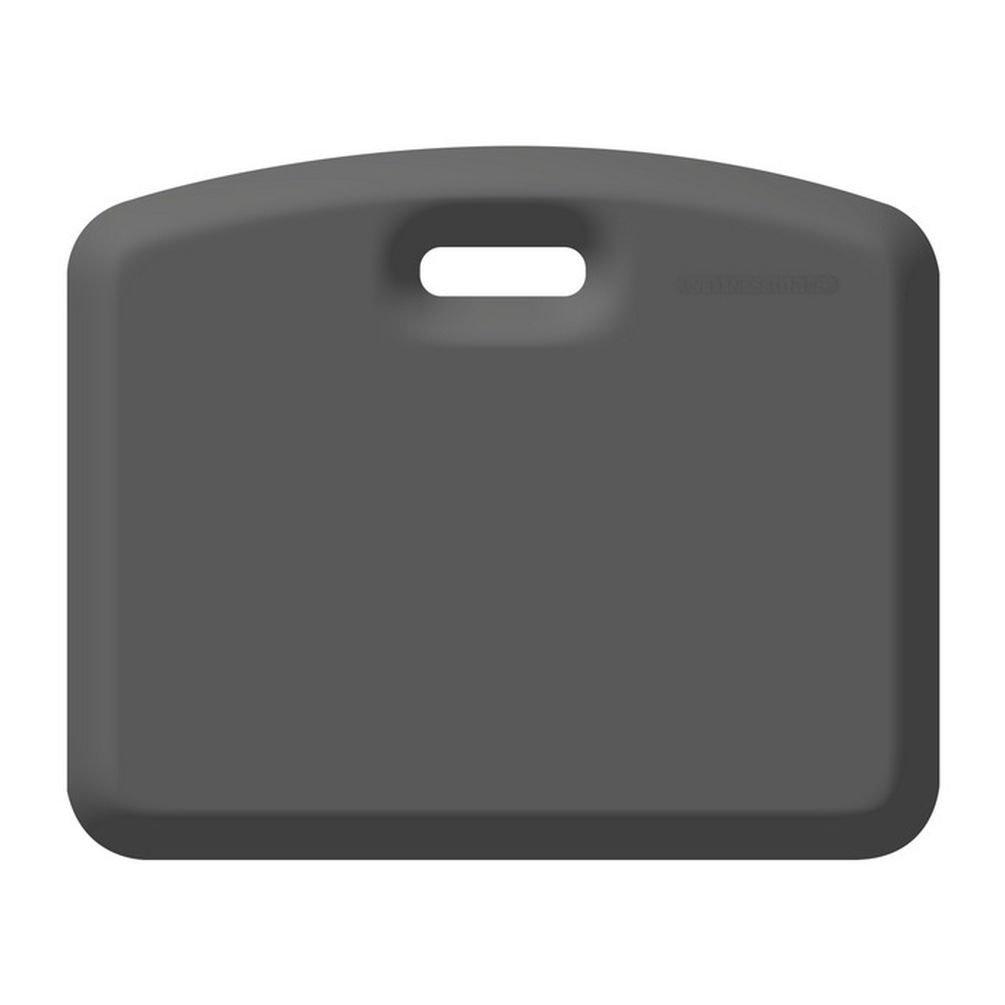 WellnessMats - Companion Anti-Ermüdungsmatte - transportabler Komfort für die Arbeit im Stehen, Sitzen oder Knien - Ideal für Hausarbeiten, Gartenarbeiten und als Sitzkissen bei Veranstaltungen oder auf Reisen - Grau - 45cm x 55cm