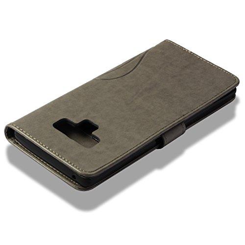 Portefeuille En Gris De Simple Samsung Bonroy Case point Coque Galaxy Rouge 9 Premium 9 Cuir Etui Flip Forage Gaufrage Pour point Housse Note Diamants xYgPqpgw4