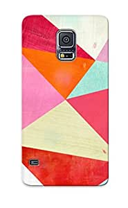 Durable Case For The Galaxy S5 - Eco-friendly Retail Packaging(Pink Triangle)