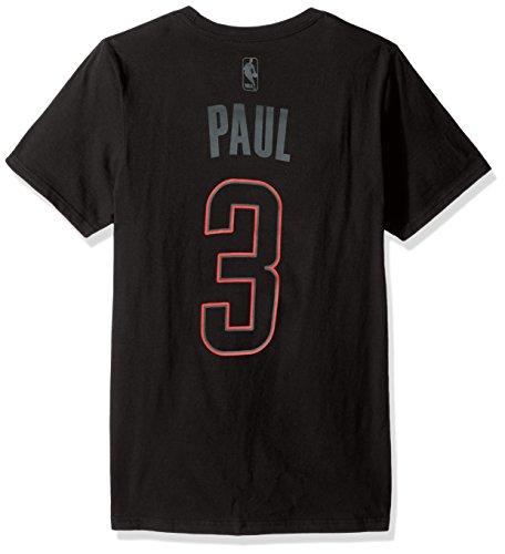 NBA Los Angeles Clippers Chris Paul #3 Adult Mens Hyper N&N S/Go-To Tee,Medium,black