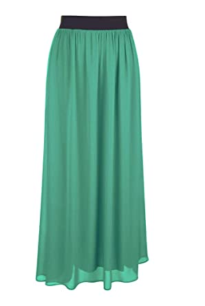 0770f32648 Faship Women Long Retro Pleated Maxi Skirt at Amazon Women's Clothing store: