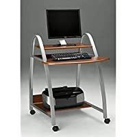 Mobile Arch Computer Cart Medium Cherry Dimensions: 31.5'W x 34.5'D x 37'H Weight: 42 lbs.