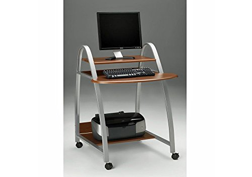 Mobile Arch Computer Cart Medium Cherry Dimensions: 31.5''W x 34.5''D x 37''H Weight: 42 lbs. by Mayline Group
