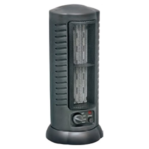 Electric Oscillating Ceramic Tower 1500 Watts Black Fan Heater