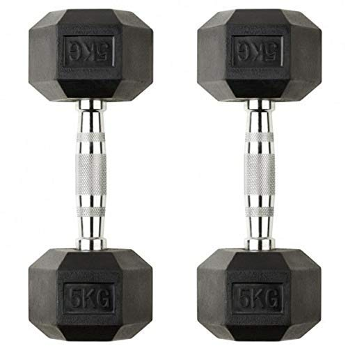 GSM Fitness Hex Dumbbell, 5 kgs, Pack of 2, Rubber Coated Price & Reviews