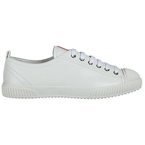 Prada Women's Shoes Leather Trainers Sneakers White discount official 6XCovl