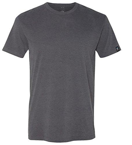 EXIT 26 Men's Premium Ultra Soft Sueded Jersey Crewneck Plain and Heather T-Shirts Ash Grey