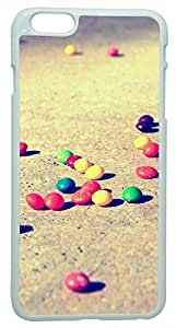 Generic 3D Colorful Candies On The Ground Hard Case for iPhone 6 White by ruishername