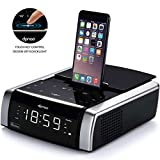 Charging Docking Music System for iPhone Xs, XS Max, XR, X, iPhone 8, 7,6 Plus, with Alarm Clock Bluetooth Wireless...