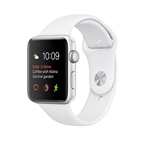 Renewed Apple Watch Series 2, 42mm Silver Aluminum Case with White Sport Band