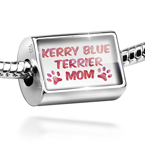 Terrier Dog Kerry Charm Blue (Sterling Silver Bead Dog & Cat Mom Kerry Blue Terrier Charm by NEONBLOND)