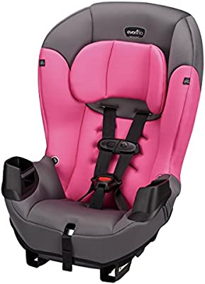 Evenflo Sonus Convertible Car Seat, Strawberry Pink