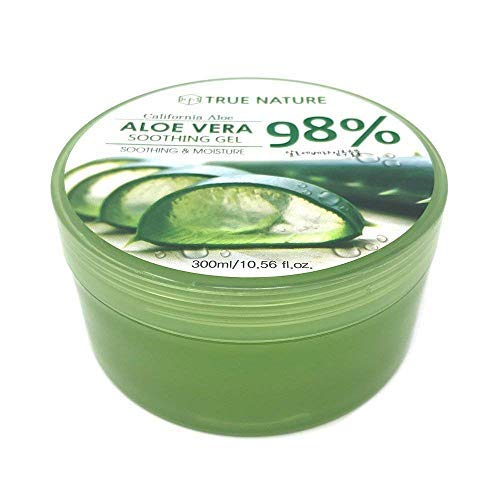 """40 Packs"" True Nature Soothing and Moisture Aloe Vera 98% Soothing Gel Made in Korea (40)"