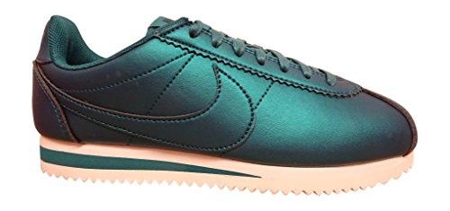 Nike Women's Classic Cortez Leather Sneakers Metallic Dark Sea (Large Image)