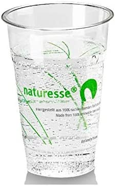 Naturesse - Vasos de cristal biodegradable PLA, 20 / 25 cl, 50 ...