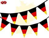 Germany Full Flag Patriotic Themed Bunting Banner 15 Triangle flags for guaranteed simply stylish party National Royal decoration by PARTY DECOR