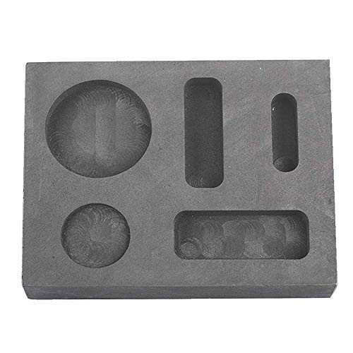 Graphite Finish Bar - Femitu Graphite Ingot Molds for Casting 1/4 1/2 1 OZ Refining Scrap Bar Coin Combo Mould for Gold Silver Metal
