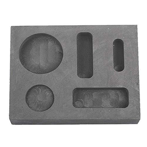 Femitu Graphite Ingot Molds for Casting 1/4 1/2 1 OZ Refining Scrap Bar Coin Combo Mould for Gold Silver Metal (Graphite Ingot Mold Silver)