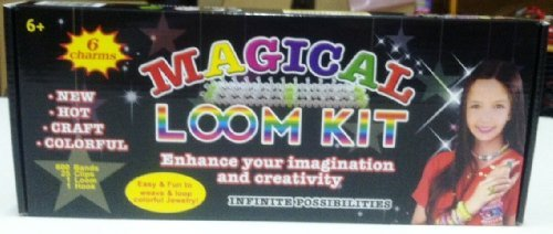 1 X Magical Colorful Loom Kit, Includes Loom, Hook, Bands, Clips & Charms
