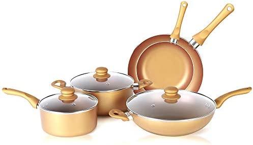 SIMPLE & Co 8 Piezas, ollas y sartenes de cerámica aptas ...