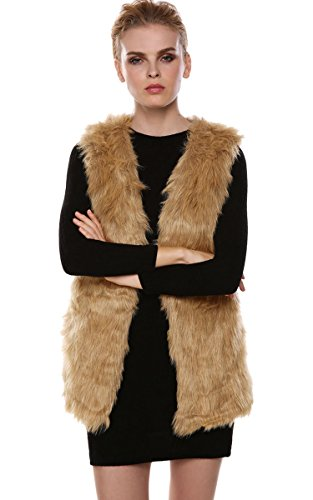 Romanstii+Women+Ladies+Vintage+Warm+Faux+Fur+Sleeveless+Jacket+Waistcoat+Vest+L