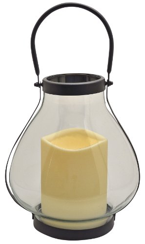 Schoolhouse Candle Lantern with Flameless Timer Candle
